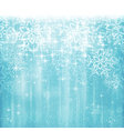Blue white christmas winter design with vector image vector image
