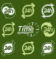 Set of graphic web 24 hours timers vector image