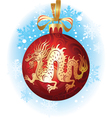 chinese christmas dragon vector image vector image