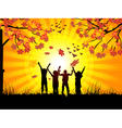 autumn and childrens vector image