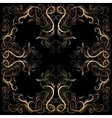 Background with filigree hand-drawing ornament vector image