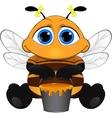 Cute little bee vector image