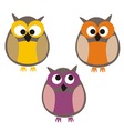 Funny colorful owls vector image
