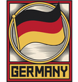germany flag poster vector image