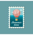 Hot Air Balloon stamp Summer Vacation vector image