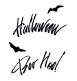 happy helloween lettering handwritten isolated vector image