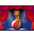 A lion above a hot air balloon vector image vector image