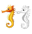 animal outline for seahorse vector image