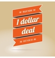 Dollar deal poster vector image
