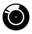 vinyl record retro sound carrier black color icon vector image