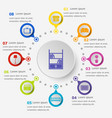 infographic template with living room icons vector image vector image