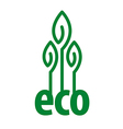 eco logo in the form of plant vector image vector image