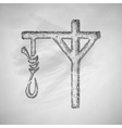 gallows icon vector image