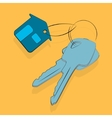House key icon sale rent or security flat vector image