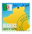 algiers - capital of algeria vector image