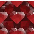heart diamond seamless pattern vector image vector image