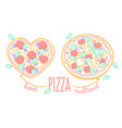banner for pizza linear style vector image
