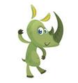 cartoon funny rhino character vector image