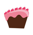 delicious chocolate cake vector image