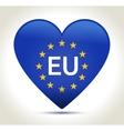 European union flag in heart shape vector image