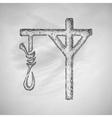 gallows icon vector image