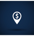 Map pointer with dollar sign icon vector image