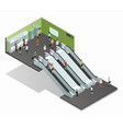 Subway Isometric vector image