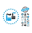Industry Flat Icon with Bonus vector image