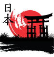 Japanese style vector image vector image