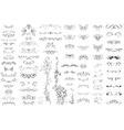 Set of vintage retro calligraphic elements vector image vector image