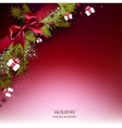 Christmas background with fir twigs garland and vector image vector image