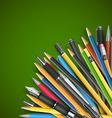 Pen and pencils vector image