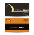 Business card housing vector image vector image