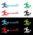 football design elements vector image