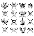 knight logo set vector image