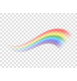 Rainbow icon realistic 5 vector image