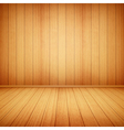 wood floor and wall vector image