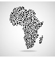 Abstract Africa map Eps 10 vector image