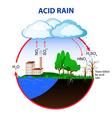 Acid rain vector image