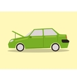 Broke down car cartoon vector image