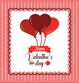 happy valentines day greeting invitation card vector image