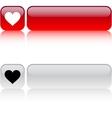 Heart square button vector image