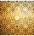 Islamic gold pattern with overlapping geometric vector image