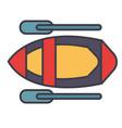 kayak flat line  concept vector image