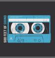 retro design with a cassette tape vector image
