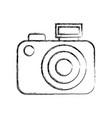 Sketch draw camera cartoon vector image