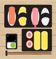 sushi japanese food vector image