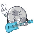with guitar football character cartoon style vector image
