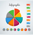 color pie chart infographic template template for vector image vector image