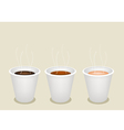 Disposable Coffee Cups vector image vector image